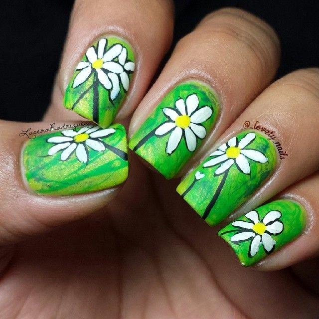 Kbshimmer Spring 2014 Chevron Dot Nail Art Easter Design: 214 Best Paint My FLOWERS Fetish Images On Pinterest