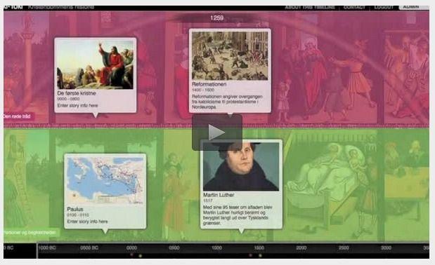 Online tidslinjer om kristendommens historie | EMU Danmarks læringsportal