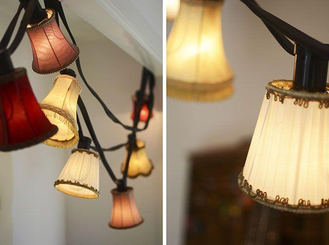 DIY Pyssel: Ljusslinga med små lampskärmar – Hemma med Helena