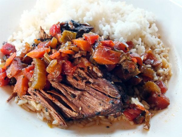 Cajun Pot Roast - spicy, tender comfort food. And you make it in a slow cooker!