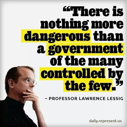 If you aren't familiar with Lawrence Lessig, please ck him out on youtube & you'll soon be a fan.
