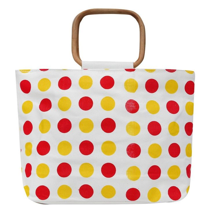 #Estilo Store #Polka Red #Yellow Jute #Hand Bag