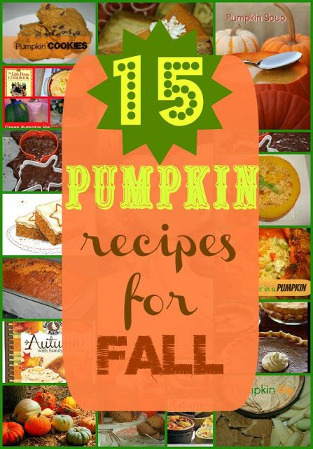 15 Pumpkin Food Recipes for Fall and Halloween from SusieQTpies Cafe