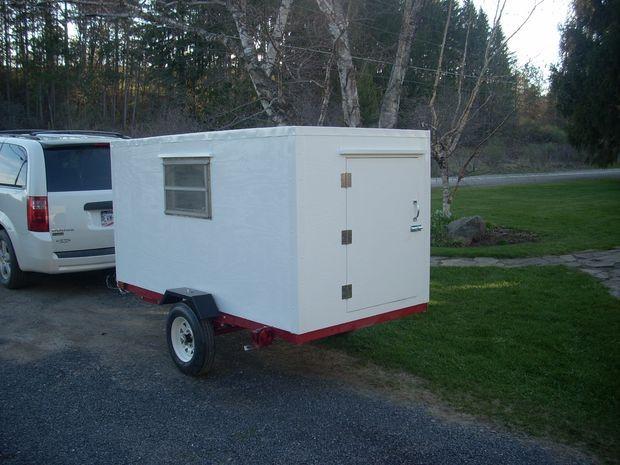diy micro camper mini caravane caravane et cols. Black Bedroom Furniture Sets. Home Design Ideas