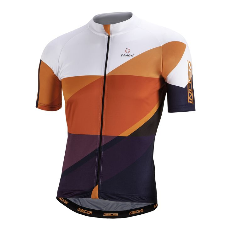 NALINI Campione Jersey SS Orange Purple White