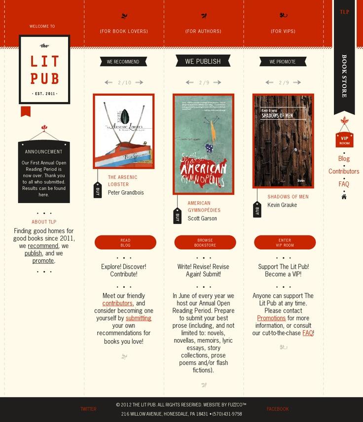 The Lit Pub #website #design
