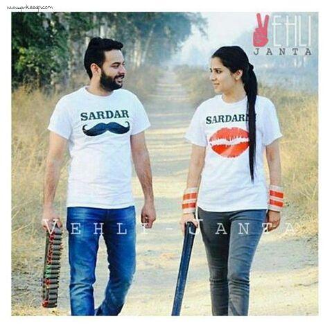 girls wedding dresses,couples dp,punjabi suit: punjabi couple dp for whatsapp