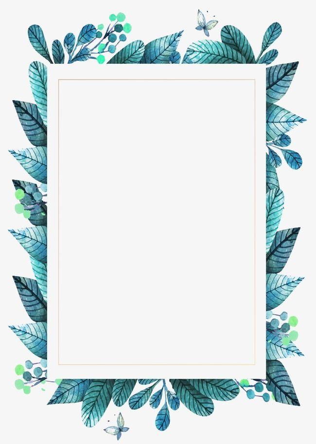 Green leaves frame,leaves patten,png images,vector