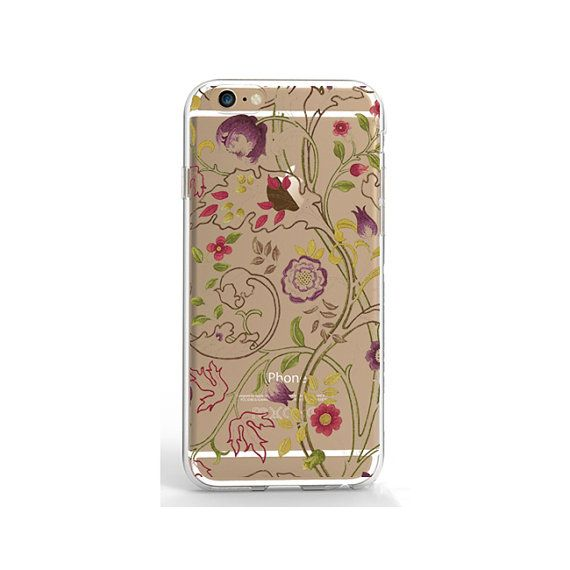 Clear iPhone 7 plus case flower phone case transparent iPhone