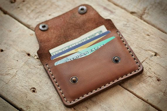 Personalized wallet for cards & cash secured by HazarHandcrafted