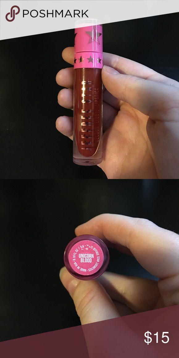 Jeffree Star Cosmetics Velour Liquid Lipstick Unicorn Blood. 100% authentic. Has been swatched, but never worn on the lips jeffree star cosmetics Makeup Lipstick