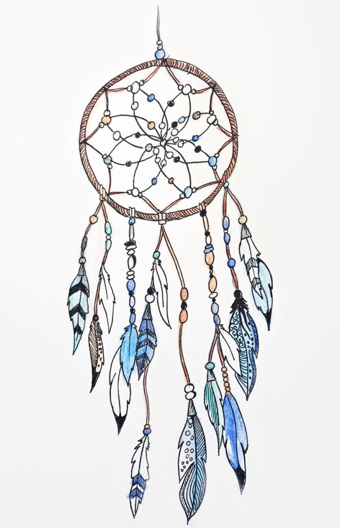 Dreamcatcher #illustrations #ink #watercolor