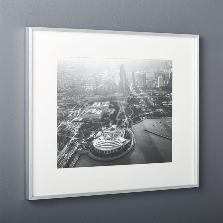 shop gallery brushed silver 16x20 picture frame exhibit your favorite photos gallery style