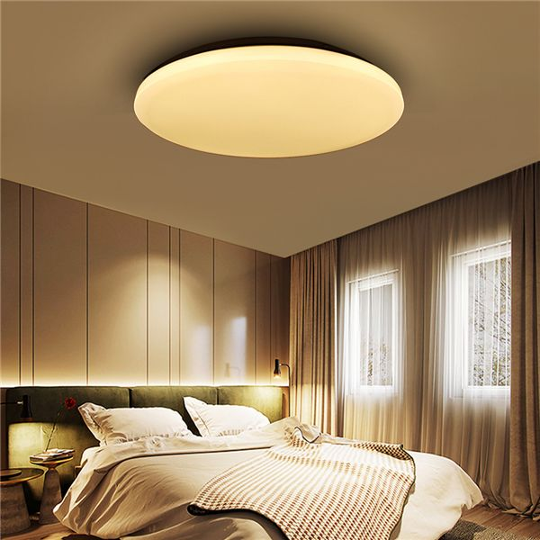 12W 1000LM LED Flush Mount Ceiling Light Round Ultrathin Fixture for Kitchen Bedroom  AC110V-240V