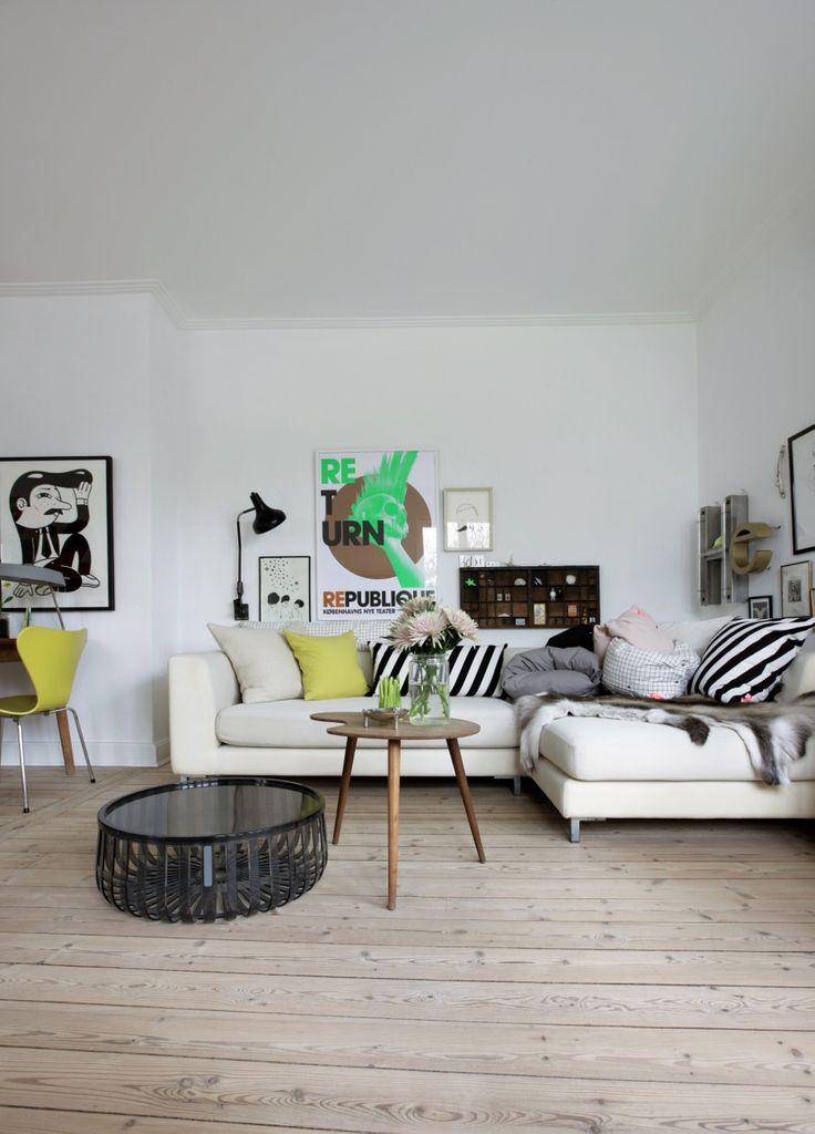 A home in Denmark.  Photo by Frederikke Heiberg for Danish Alt for damerne.