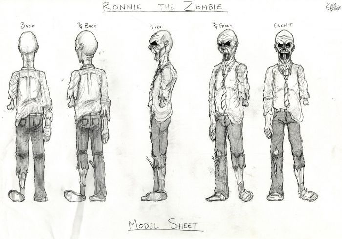 Character Design Zombie : Ronnie the zombie modeling sheets pinterest zombies