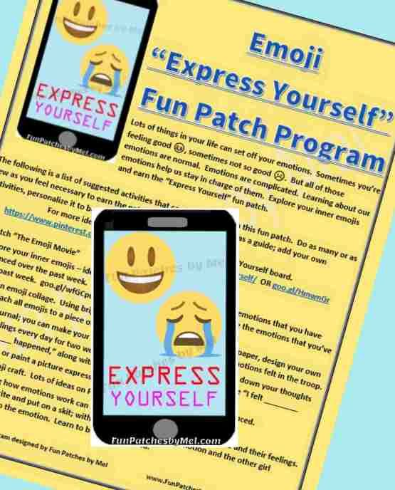 "Emoji ""Express Yourself"" Fun Patch Program – Fun Patches by Mel"