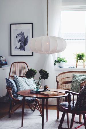 Taklampa ECO off white 60 cm • Lampverket unika lampor