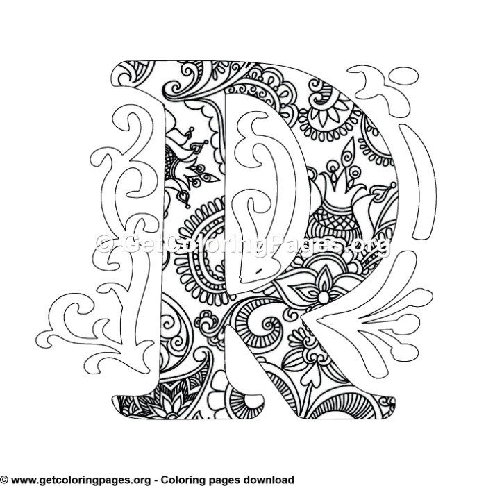 Zentangle Monogram Alphabet Letter F Coloring Sheet Getcoloringpages Org Mandala Coloring Pages Lettering Alphabet Unicorn Coloring Pages