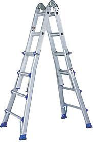 Screwfix Aluminium Telescopic Ladder 2-Section 2 x 7 High quality telescopic folding aluminium ladder in lightweight yet robust construction for indoor or outdoor use. Folds for easy storage and transportation. Adjustable in various positions: one side  http://www.comparestoreprices.co.uk/january-2017-9/screwfix-aluminium-telescopic-ladder-2-section-2-x-7.asp
