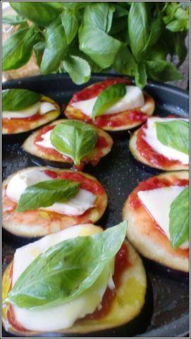 [microonde] pizzette di melanzane