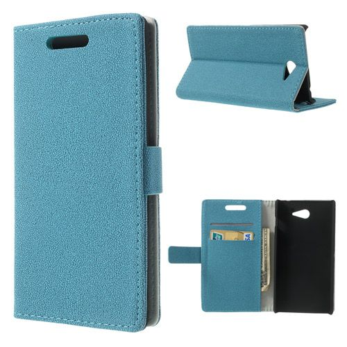 Θήκη Πορτοφόλι Wallet Case Γαλάζιο (Sony Xperia M2 S50h) - myThiki.gr - Θήκες Κινητών-Αξεσουάρ για Smartphones και Tablets - Χρώμα γαλάζιο