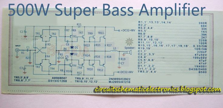 Amplifier Circuit Diagrams 1000w Super Bass Power Amplifier 2sc2922 2sa1216 In 2019 Hubby