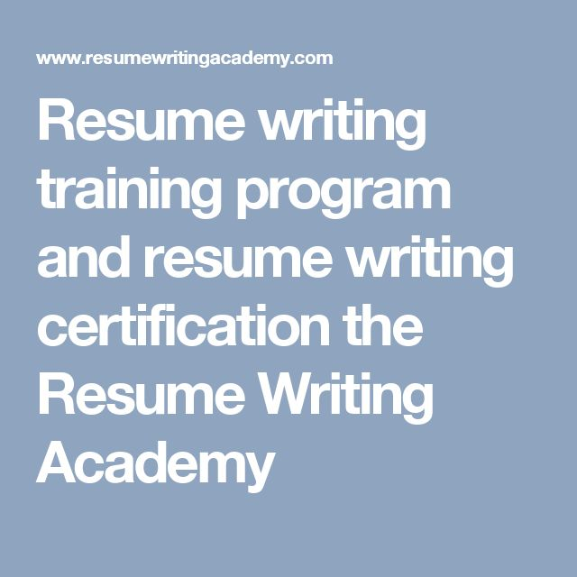 Exceptional Resume Writing Training Program And Resume Writing Certification The Resume  Writing Academy