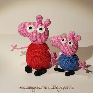 Wundervolle Amigurumi Welt: Peppa & Schorsch (Peppa Pig) free pattern (de)
