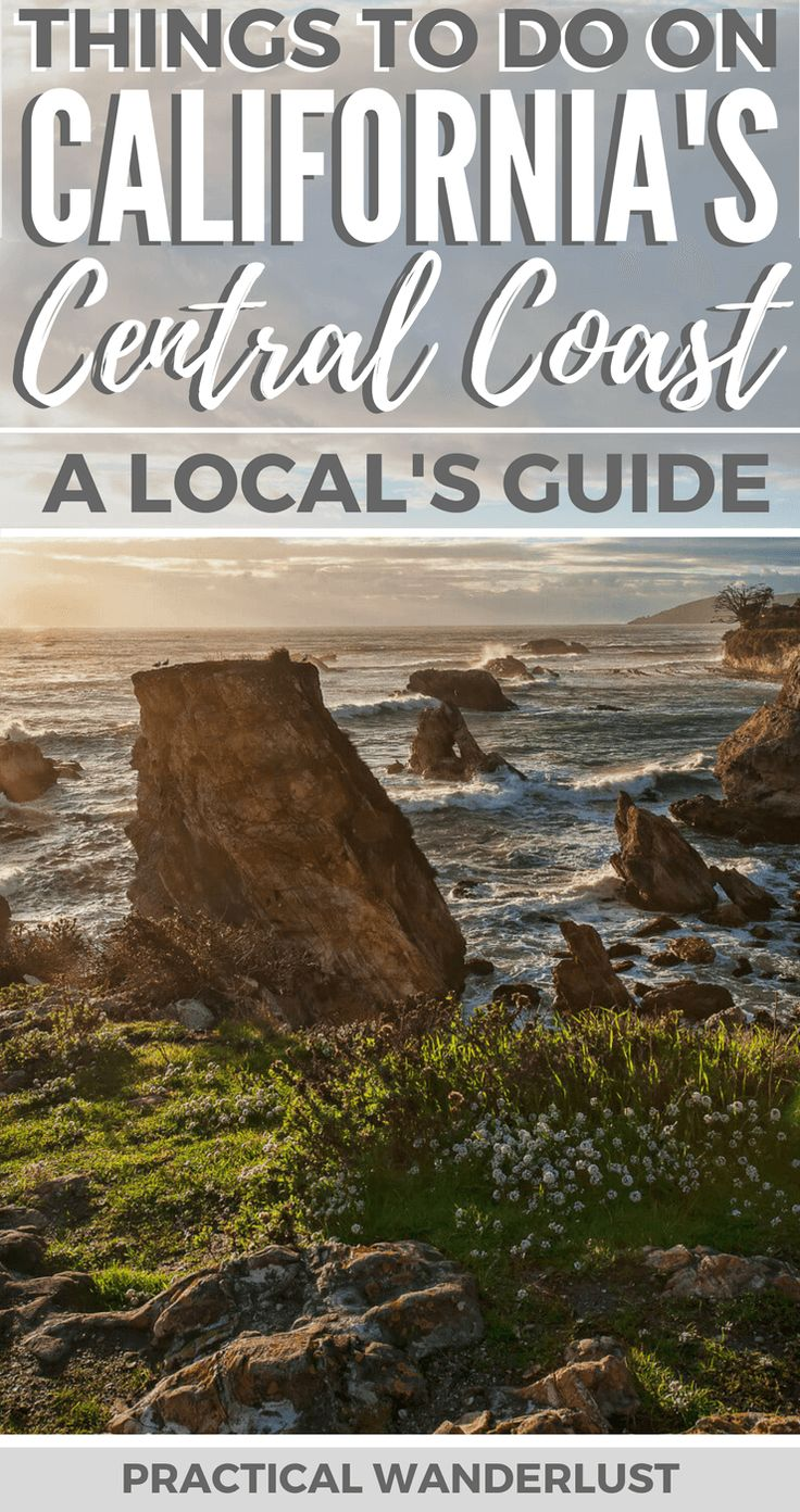 The Central Coast in California, USA is amazing. From charming towns to wineries to beaches to hot springs to hiking to wildlife, California's Central Coast has it all! This local's guide has all the insider tips for an amazing trip to the Central Coast in California, including what to do and where to eat & drink! | #California Travel | Pismo Beach | Shell Beach | Avila Beach | San Luis Obispo | Morro Bay | Cayucos | Paso Robles | Los Osos | San Simeon | #CaliforniaTravel | #PCH #RoadTrip