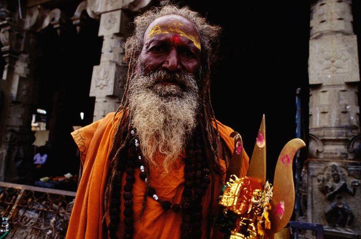India - Pilgrim in Ramannathaswamy Temple - Rameswaram, Tamil Nadu