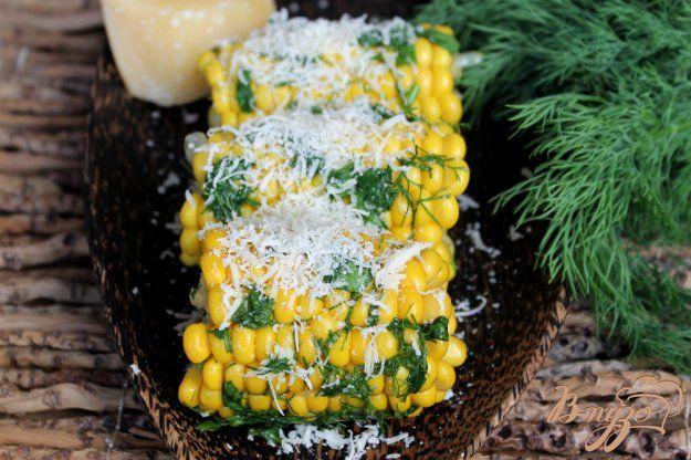 Кукуруза с зеленью и сыром - пошаговый рецепт с фото