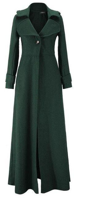Floor Length Coat Women New 2016 Spring Jackets And Coats Extra Long Thin Wool Cashmere Coat Manteau Femme Windbreaker W023