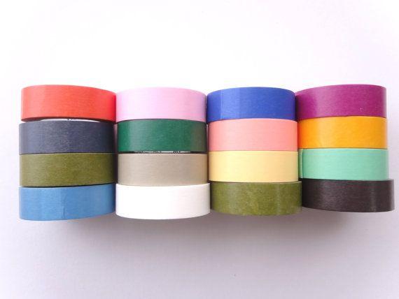 Washi tape set Plain washi Lackey bag Lots by WashiTapeAddictClub