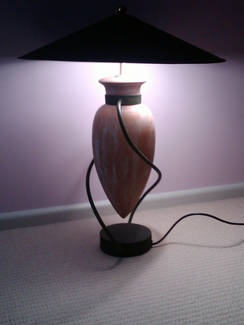 4 Terracotta Lamps with Metal Shades - sydney gumtree