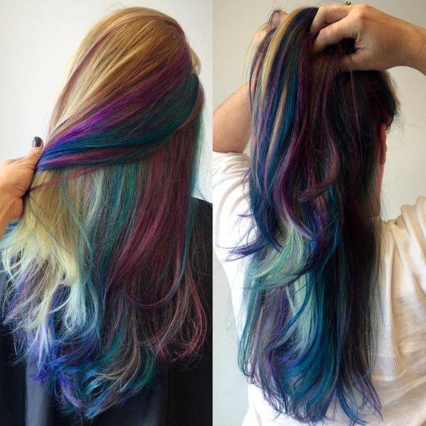 Galaxy Hair et Underlights sur cheveux blonds