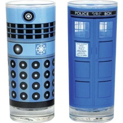 Doctor Who Dalek Ja Tardis Lasit - AlphaGeek 6,49 e