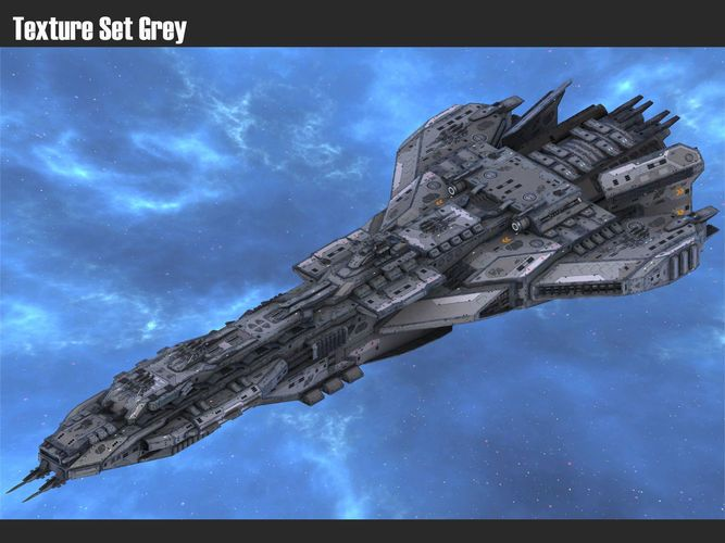 Spaceship Dreadnought Vengeance 3d Model Concept Ships