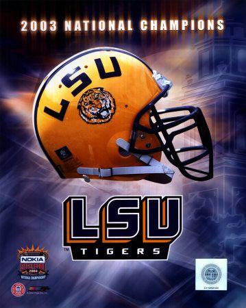 LSU Logo Helmet - 2003 National Champions