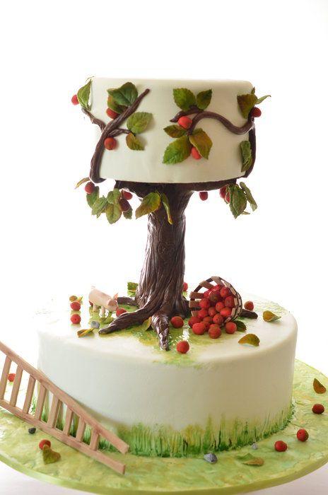 Fall wedding cake - by rosegateaux @ CakesDecor.com - cake decorating website