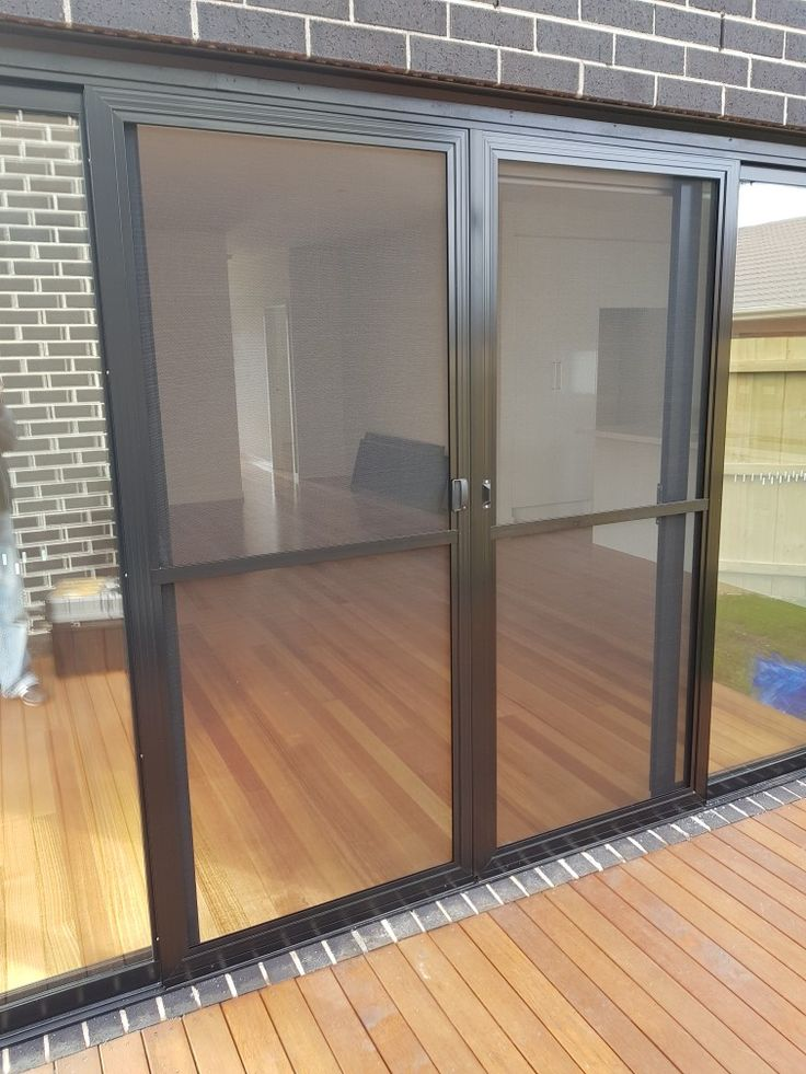 Aluminum frame and flyscreen door double panel's  www.flyscreensaustralia.com.au