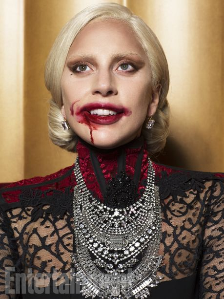 """I've felt it with only a few people in my career when you do something and you say, 'I belong here,'"" says Gaga of joining #AHS. ""And I feel that way with the cast — I just feel like we somehow belong together whether I'm on the show or not."" #AHSHotel   Image Credit: Michael Avedon for EW."