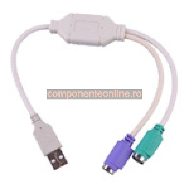 Adaptor USB - PS2, tastatura si mouse - 402044