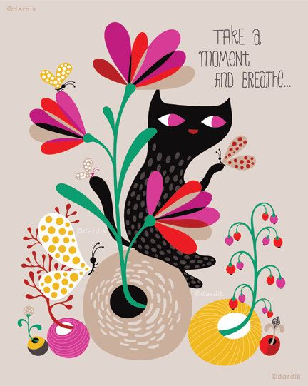 """""""take a moment and breathe"""" print.  we all need to slow down thought.  nice graphic."""