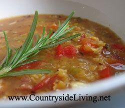 Суп из чечевицы красной. Чечевичный суп