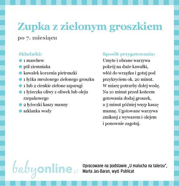 Przepisy dla niemowlaka - Zupki dla niemowlaka | Strona 12 | Baby online
