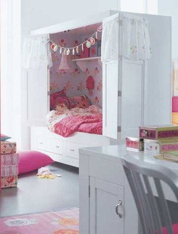 cupboard beds, gives them much more room to play, then they don't even have to make their bed :)