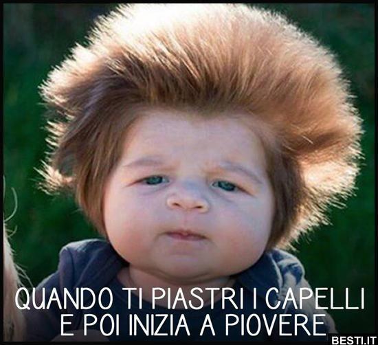 Quando ti piastri i capelli