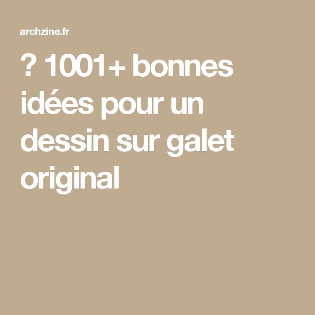 ▷ 1001+ bonnes idées pour un dessin sur galet original