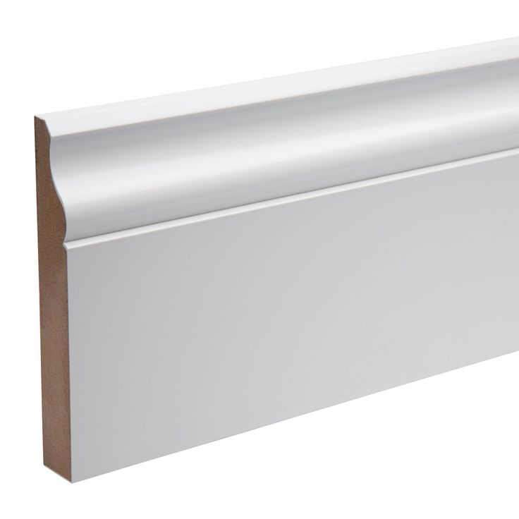 Kota White MDF Ogee Skirting (L)2.4m (W)119mm (T)18mm | Departments | DIY at B&Q £12.61 Fully Finished